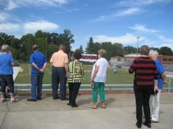 Classmates enjoying the newly renovated Putnam Stadium
